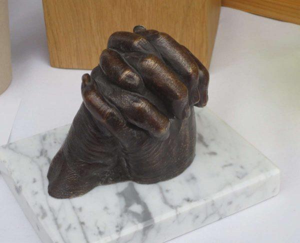Bronze memorial sculpture - cast from life - contemporary memorial for the home