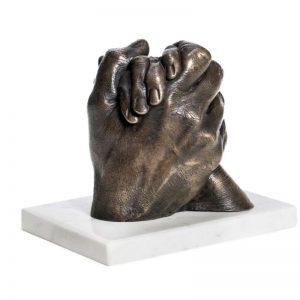 Hands in bronze - cast in somerset- taken from life