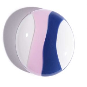 Pink and Blue Memorial Pebble keepsake urn for ashes