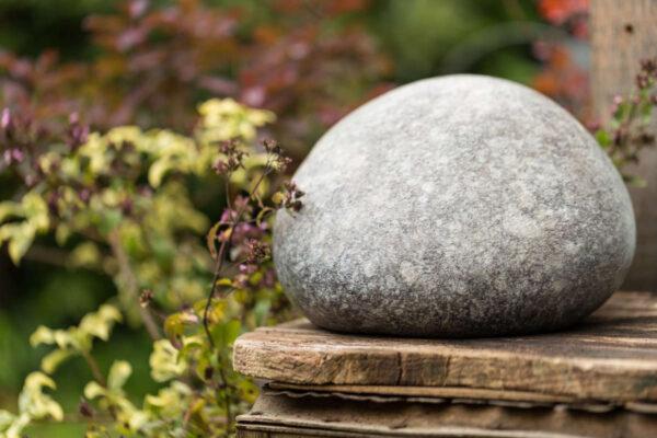 Bronze Garden Urn in garden stting - sculpture and urn