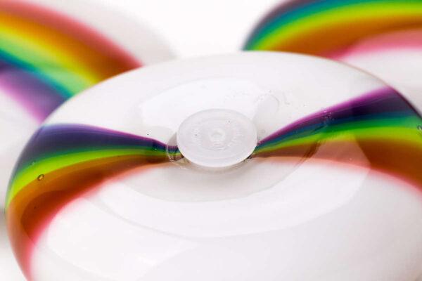 Rainbow keepsake Memorial Pebble - stopper detail