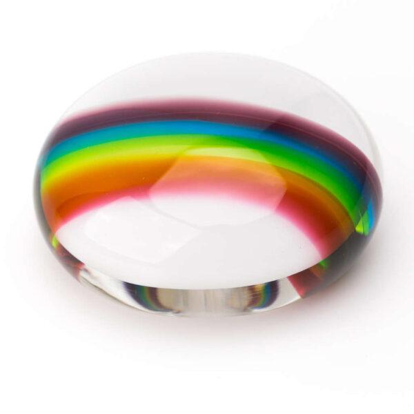 Rainbow Memorial Pebble - a joyful keepsake urn for ashes
